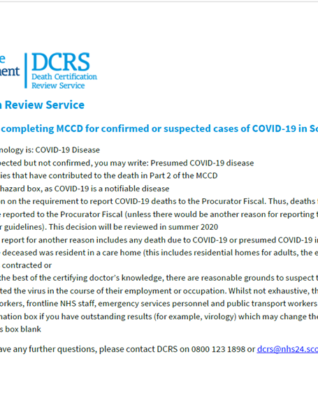 DCRS COVID-19 guidance image